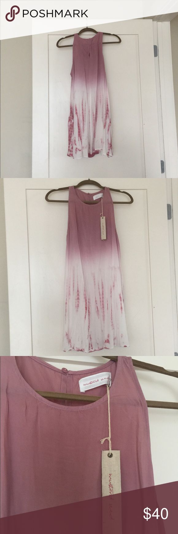 Pink tie dye swing dress New with tags, pink tie dye swing dress. This dress is not lined but is also not see through. Mustard Seed Dresses
