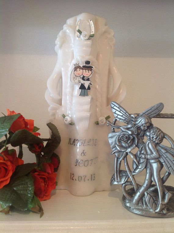 Hand Carved Wedding candle. The perfect gift or by artofcandles, £20.99