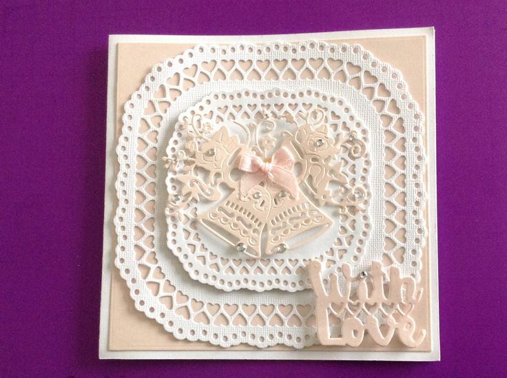 Tattered lace wedding bells