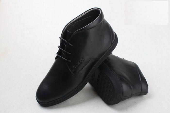 Bottes Tods Homme chaussures en cuir noir