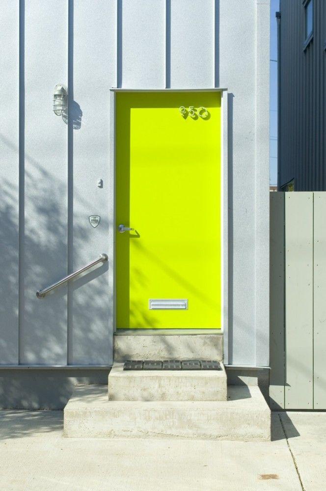 Neon door