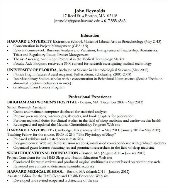 Resume Templates Harvard Resume Templates Resume Templates Business Resume Template Resume