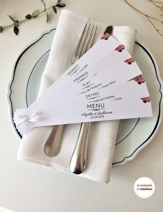 Intervallo personalizzato dal menu, decorazione di matrimonio o un battesimo, carta kraft o bianco tabella personalizzata, con raso o stringa