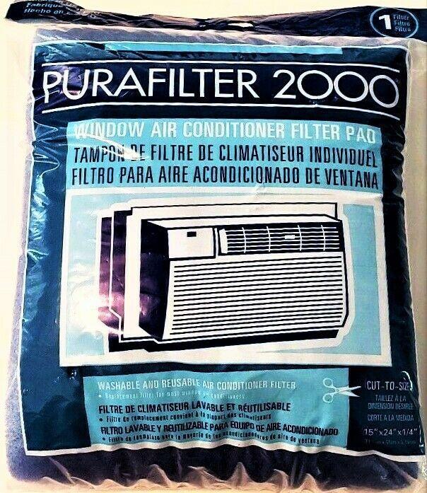 Purafilter 2000 Window Air Conditioner Washable Filter Pad 15 X 24 X 1 4 Purafilter Airconditioner Window Window Air Conditioner Air Conditioner Washable