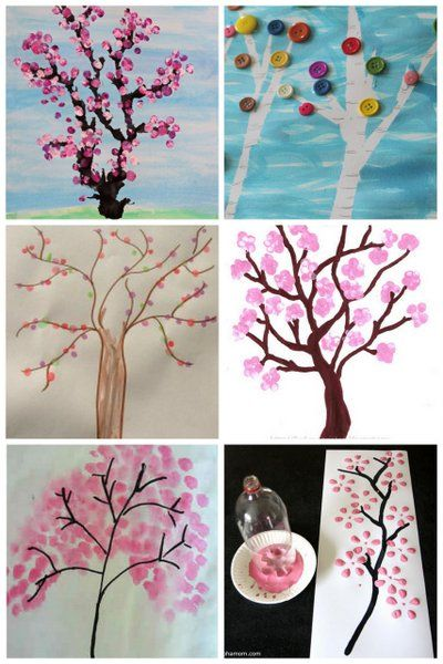 Spring tree art projects for kids to make - plus more spring art projects for kids!