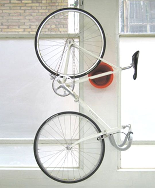Kind of a cool solution for bike storage, though kind of an expensive one too...