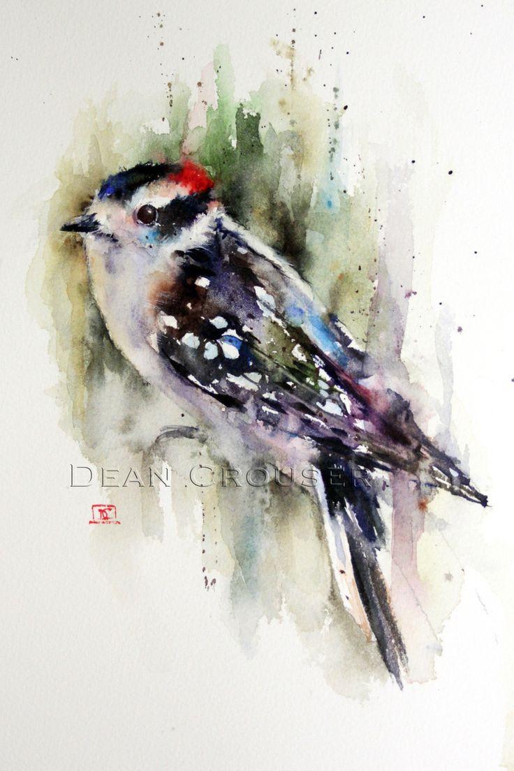 DOWNY WOODPECKER - The Art of Dean Crouser
