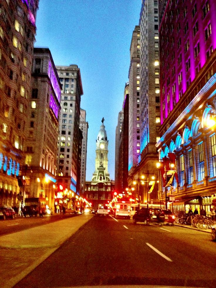 A vibrant downtown Philadelphia