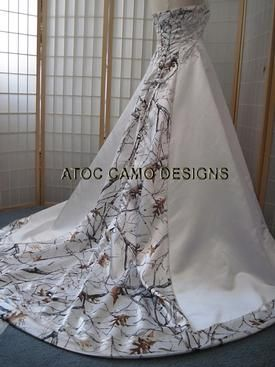 Very BRIDAL and very ELEGANT when made with the True Timber White Snowfall Camo