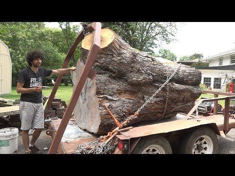 Log Lifting Arch - Log Hauling Trailer Pt 2 - YouTube