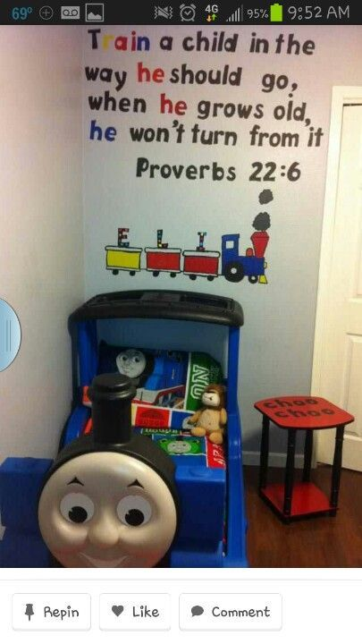 Train A Child In The Way He Should Go... With Thomas Bedroom Decor
