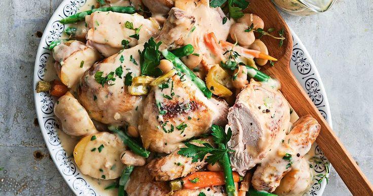 A super easy pot roast chicken that will serve up a hearty, winning winter main.