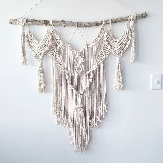 This is my newest style, Sandy! At 1mx 1m she makes a pretty big statement. This was my first proper customs piece where a lady asked me to make something with tassels, I was really quite nervous making it but I'm very pleased to say she absolutely loves it. It's online now if you would like one to.  #macramewallhanging #wallhanging #macrame #modernmacrame #makersgonnamake #makersvillage #makersmovement #macramemovement #handsandhustle #mycreativebiz #creativehappylife #bohohome…