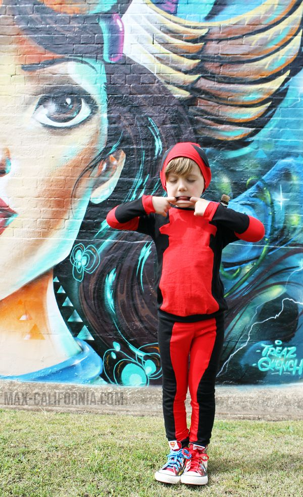 Easy DIY kids' Deadpool costume