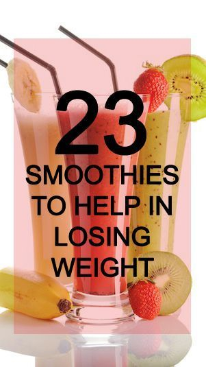 Smoothies for Losing Weight You can lose weight in a delicious and nutritious manner