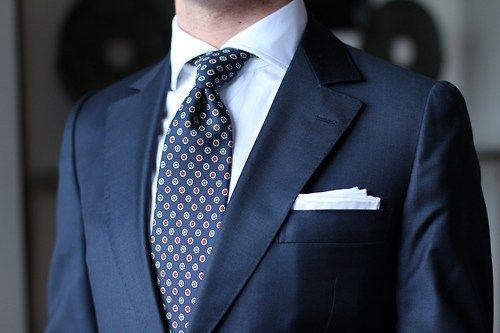 Camps de Luca suit CEGO shirt Drake's tie