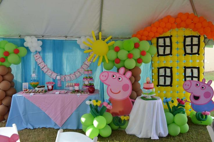 Peppa Pig Birthday Party Ideas | Photo 2 of 41