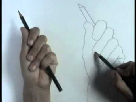 This video breaks down the process of creating a contour line drawing by focusing on an outline of the modeled hand.  4- M.Z. & B.K.