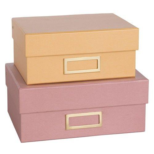 TALLINN - 2 cajas de cartón amarillo y rosa