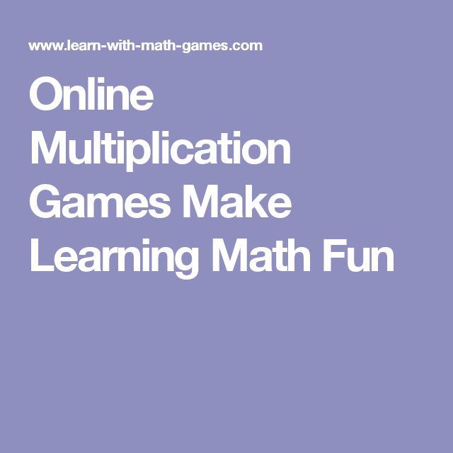 Online Multiplication Games Make Learning Math Fun