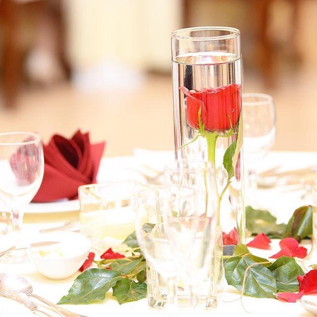 美女と野獣Wedding    お二人のテーマに合わせて、専属のフラワーコーディネーターが一緒に考え抜いた素敵なゲストテーブル    物語にも出てくる一輪のバラをモチーフに、オシャレな水中花とテーブルナフキンもバラ折で揃えてみました  #花嫁  #ディアステージつくば #fiorebianca #結婚式場 #つくば市 #茨城県 #ディアステージつくばフォレストテラス #プレ花嫁 #オシャレwedding #リゾート婚 #チャペル #オシャレ婚 #全国の花嫁と繋がりたい #weddingdress #ゲストテーブル#コーディネート#テーマウエディング#美女と野獣#バラ#水中花