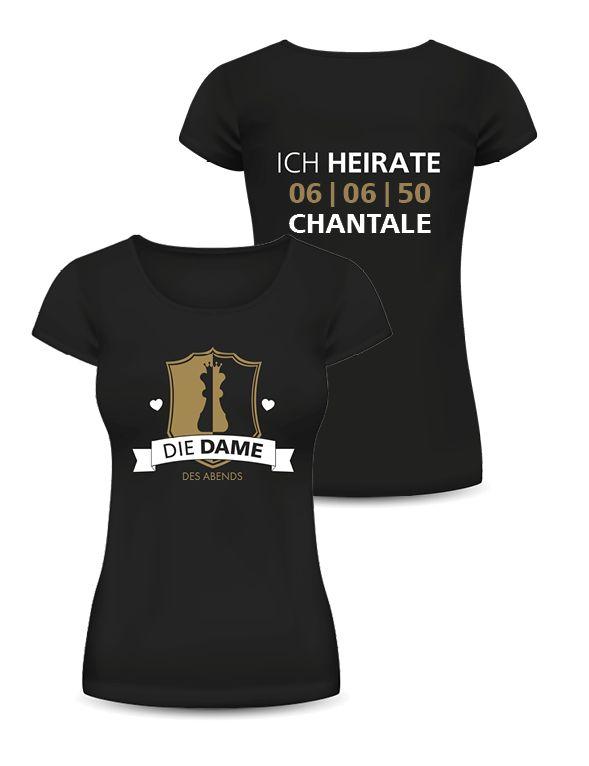 Zusammenpassende T-Shirts für Braut und Freundinnen! #zusammenpassendetshirts #tshirtbrautfreundinnen