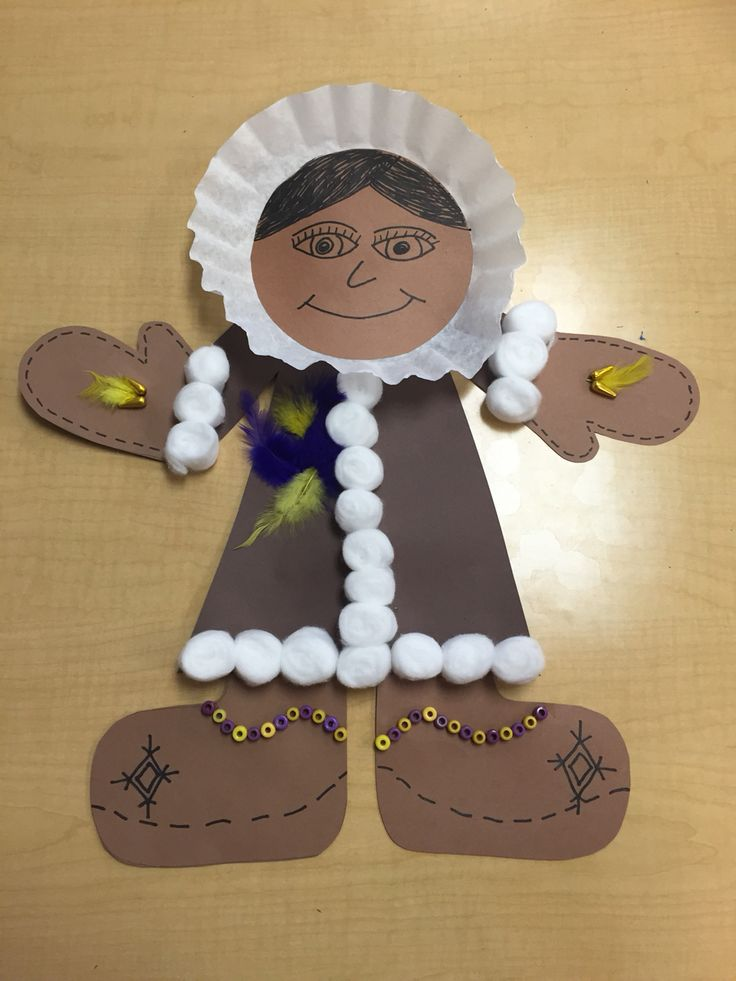 Inuit clothing craft made by grade 2 students. Arctic study