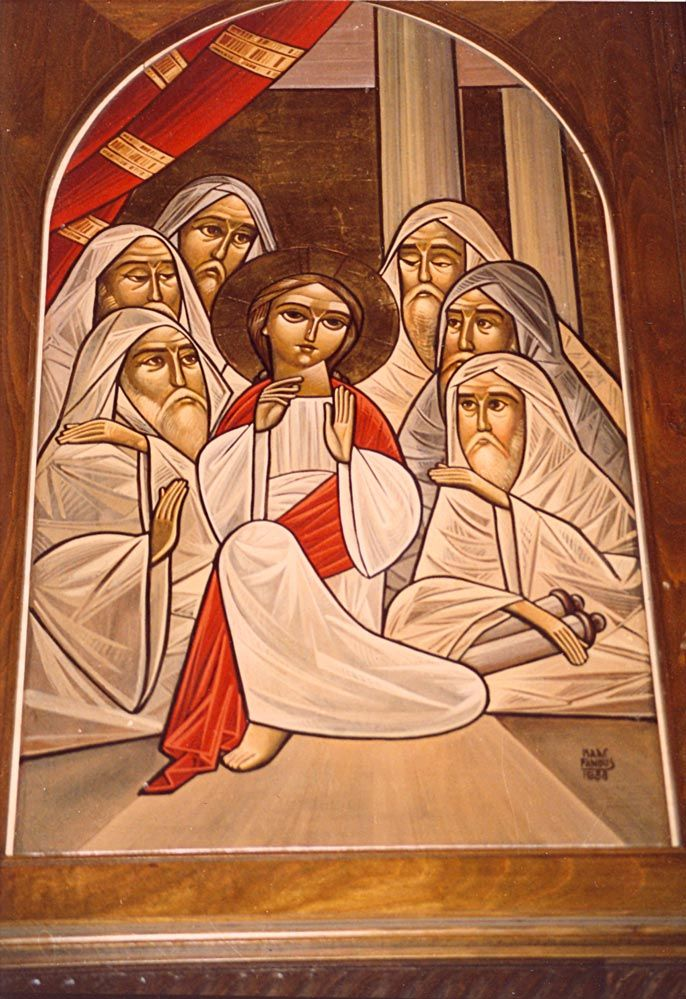 Icon of Christ in the temple by Isaac Fanous