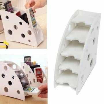Environmentally Wood Plastic Board Pen Phone TV Remote Control Holder Desktop Decal Decoration DIY Storage Box