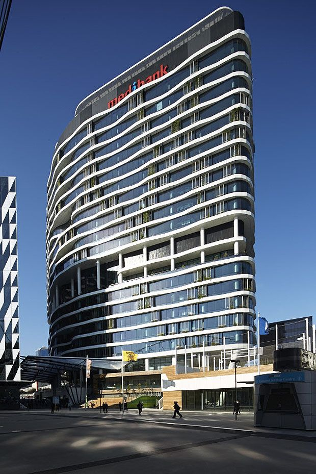 Contorting 720 Bourke Street Melbourne adds to Docklands skyline | Architecture And Design #DORMAproject www.dorma.com.au