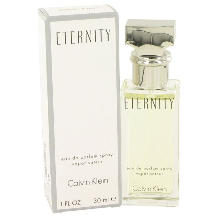 Eternity Perfume By CALVIN KLEIN FOR WOMEN 1 oz Eau De Parfum Spray Eternity Perfume by Calvin Klein, From Calvin Klein comes eternity, a romantic, floral scent that breathes with the subtle aroma of a spring garden . Both classic and contemporary, it echoes timeless quality and modern style. All products are original, authentic name brands. We do not sell knockoffs or imitations.