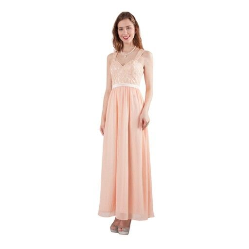 This peach colour lace dress is gorgeous!  Love this one! Other colours available too