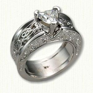 Trillion Cut Engagement Rings