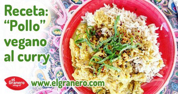 El pollo vegano al curry es una adaptación vegana del pollo al curry tradicional. Es muy fácil y rápido de hacer y supone una comida muy completa acompañada de un poco de arroz y una colorida ensalada.Esta es la receta que suelo hacer yo, pero también puedes añadir con semillas de cilantro, un t