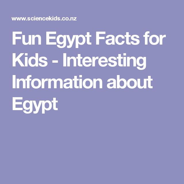 Fun Egypt Facts for Kids - Interesting Information about Egypt