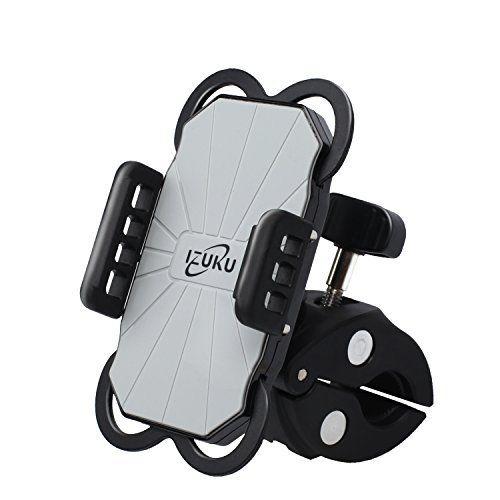 Support Vélo du Guidon Support Téléphone Moto IZUKU [Garantie à vie] Support Vélo Universel Rotatif à 360 Bracelet en Caoutchouc Taille…