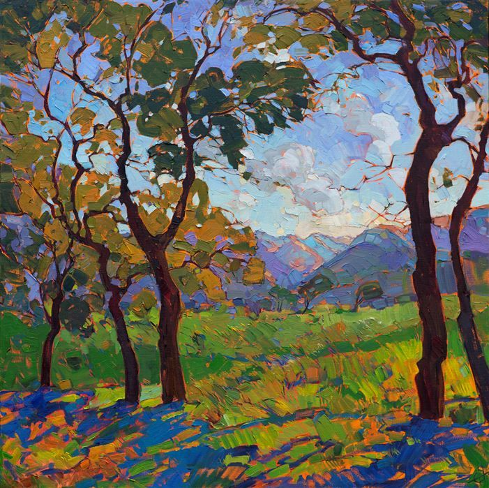 Spring Light, original impressionist oil painting by Erin Hanson