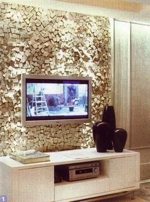 Mosaico de parede | parede texturizada em pedra, ferro, gesso ou madeira