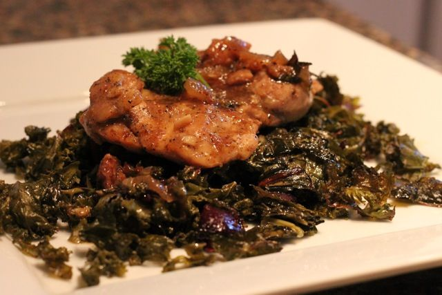 Too Easy Chicken Adobo and Roasted Greens with Beets and Garlic