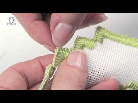 Learn How To Cut a Buttonhole Edge on Evenweave - YouTube