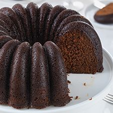 Moist, tender, spicy gingerbread baked as a bundt-style cake.