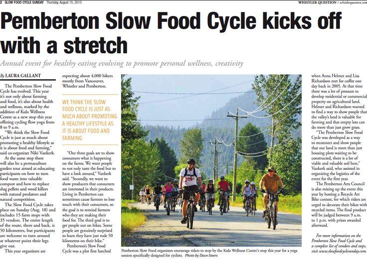 Slow Food Cycle Sunday #sfcs #Pemberton