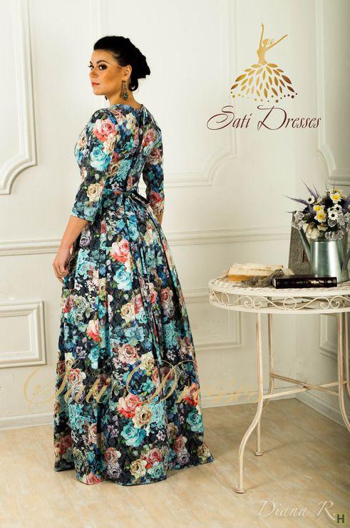 Платье в пол купить недорого в интернет магазине товаров ручной работы  HandClub.ru  Невероятное платье из плотного жаккарда (происхождение Италия).Пышная юбка, насыщенный цвет. Рукав три четверти. По желанию можно сделать короткий рукав. Пояс съемный, ширина пояса 5см. С карманами. Сошьем по вашим меркам за 1-3рабочих дня. В наличии 44 размер.