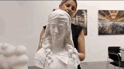 """This statue that… melts: 