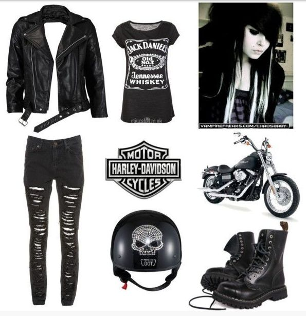 67dad5cb9006 Summer Fashion | Womens Fashion Style | Biker chick costume, Biker chick  outfit, Biker costume