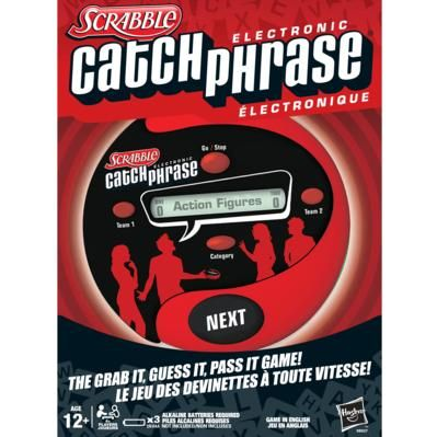 SCRABBLE Electronic CATCHPHRASE Game - Another one of my faves! Race against the timer while giving your team clues to the hidden phrase! This one can get a little wild in the heat of the moment, but it is such a riot!