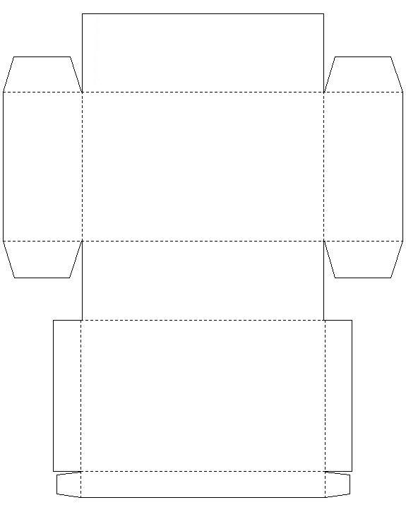 Gabarit d 39 une bo te coffret en papier fort imprimer et monter 30 papier et carton - Modele de boite en cartonnage ...