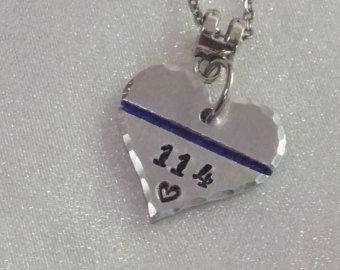 Thin Blue Line Necklace Police Wife Jewelry Police Wife
