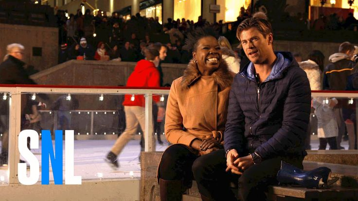 Leslie Tries Out Her Accent on SNL Host Chris Hemsworth