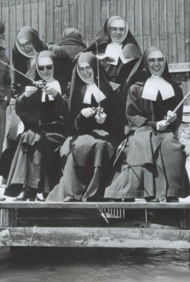 Franciscan sisters, from Colorado. Wow, they look just like St. Bernadette's order.